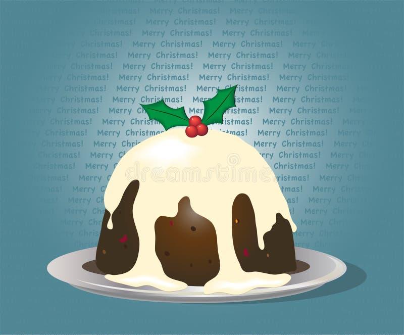 Pudín de la Navidad stock de ilustración