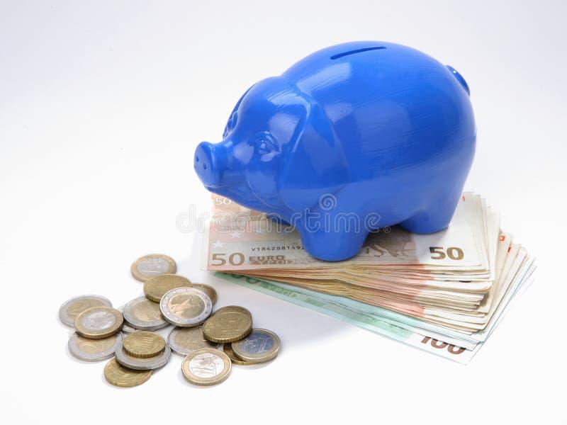 pudło pieniędzy, żeby ratować zdjęcia royalty free
