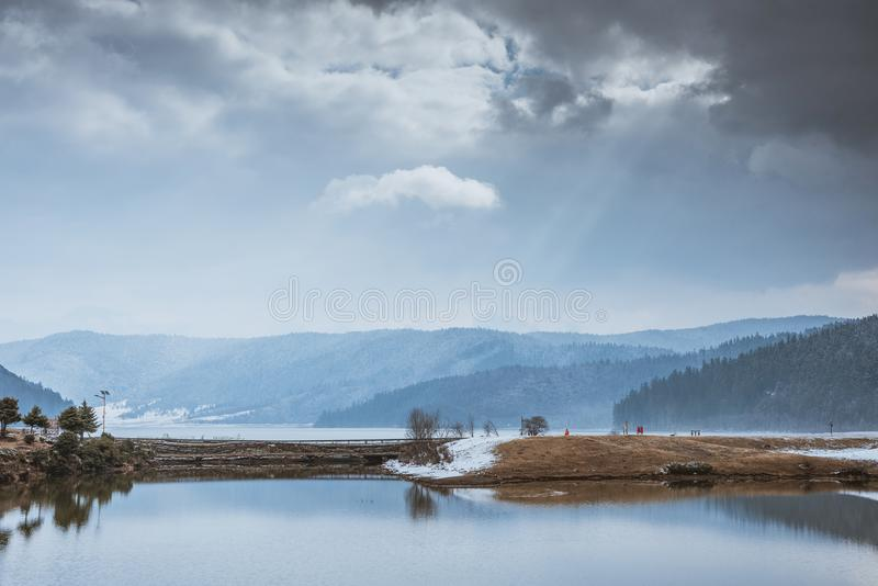 Pudacuo National Park, snow, lakes, wetlands, scenery, national AAAAA-level tourist attractions royalty free stock photo