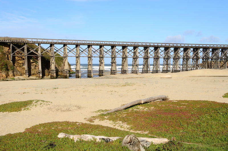 Download Pudding Creek Trestle stock photo. Image of structure - 23893198