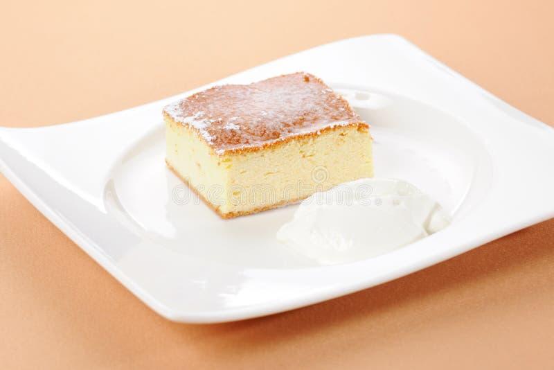 Pudding cuit au four image libre de droits