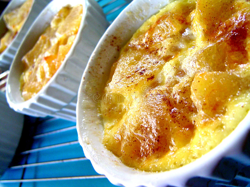 Pudding d'Apple image stock
