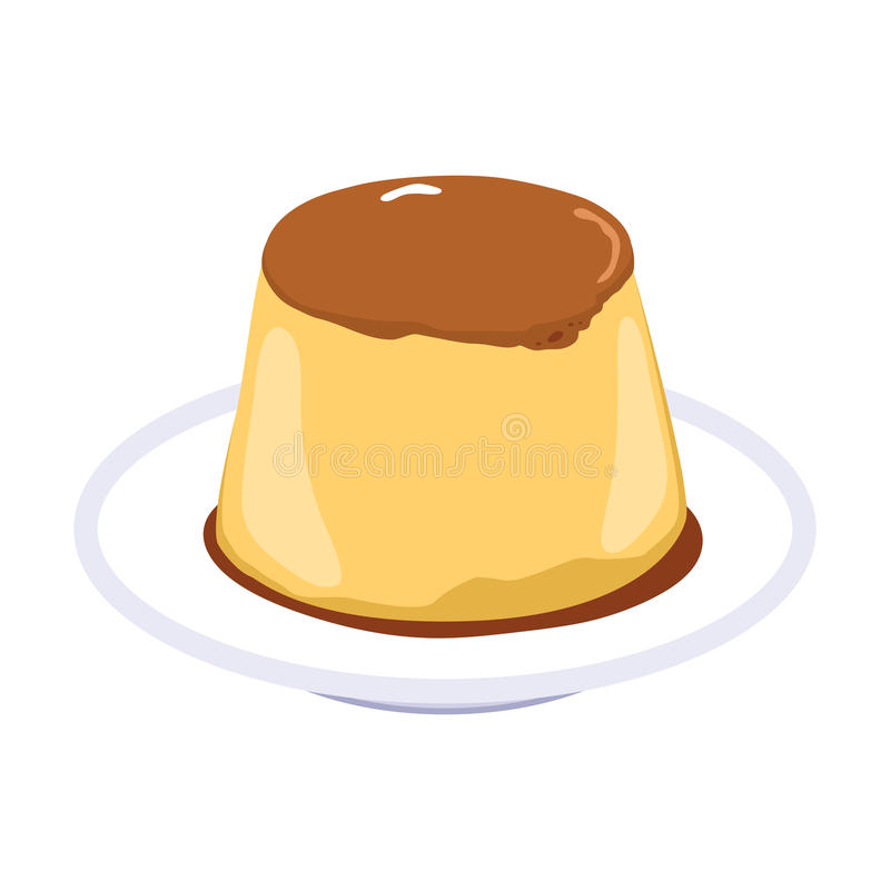 Pudding de caramel de Flan illustration libre de droits