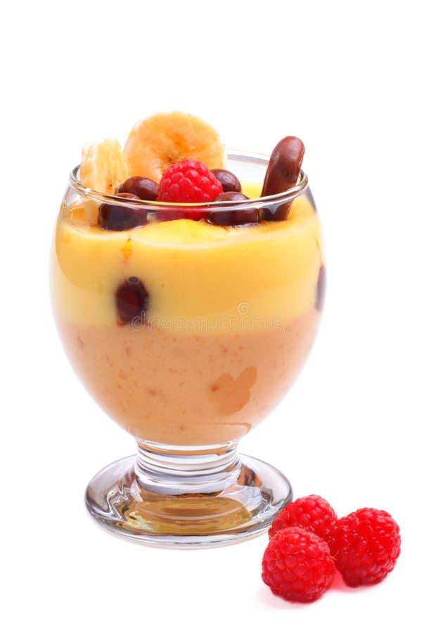 Pudding de caramel de vanille photos libres de droits