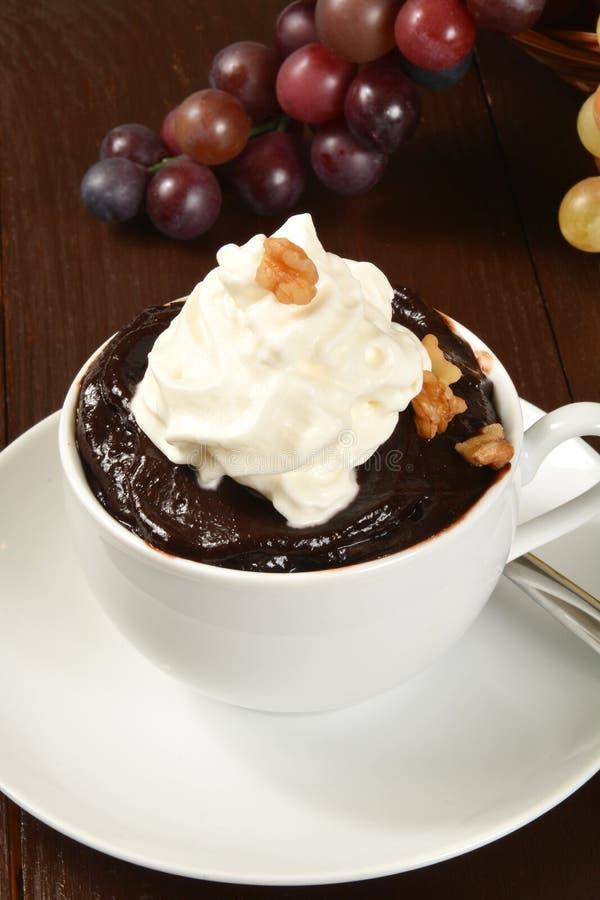 Pudding de chocolat photos stock