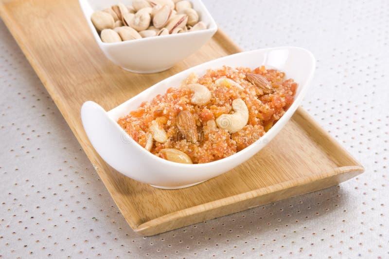 Pudding de ka Halwa ou de carotte de Gajar photographie stock libre de droits