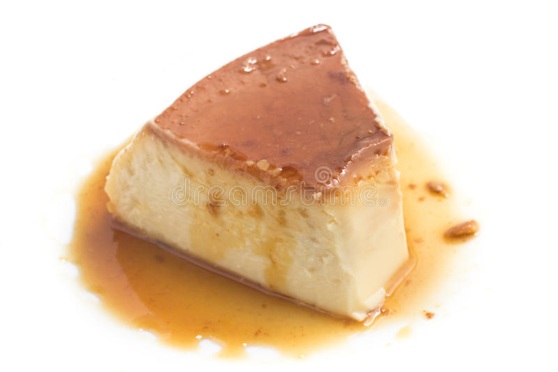 Pudding de lait Brésilien Flan photo libre de droits