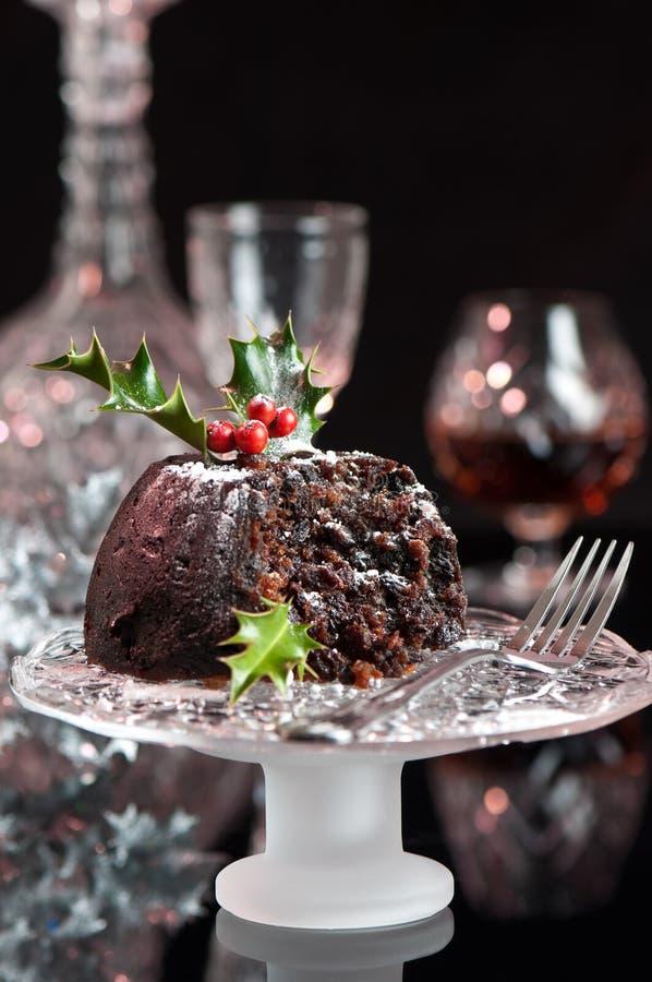 Pudding de Noël photo libre de droits