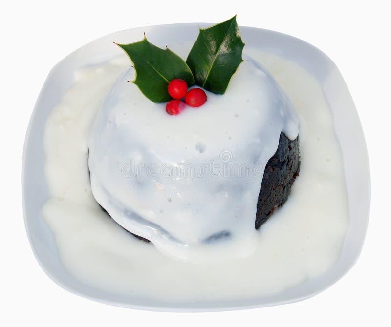 Pudding de Noël photo stock