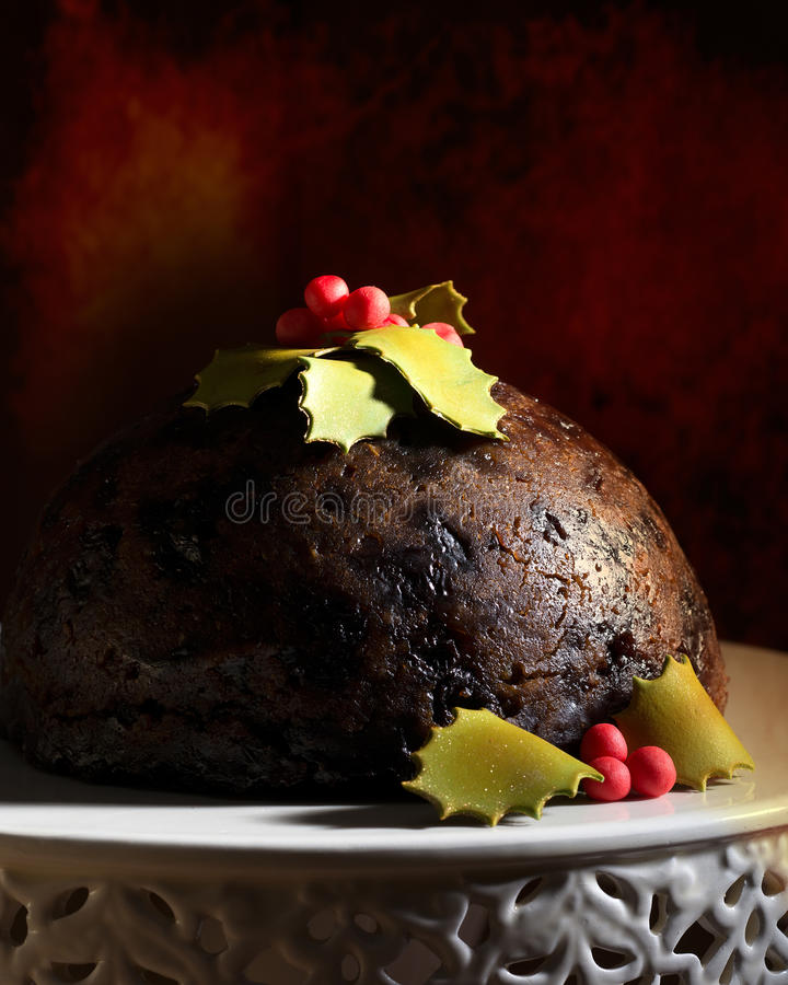 Pudding de Noël photographie stock