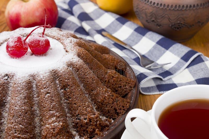 Pudding de nouvelle année pour le thé photo libre de droits