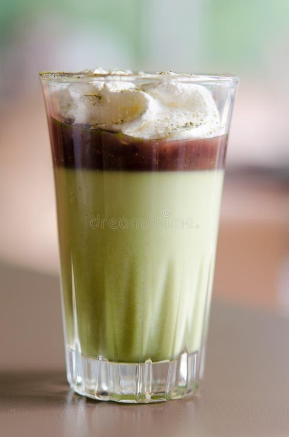 Pudding des grünen Tees lizenzfreie stockfotografie