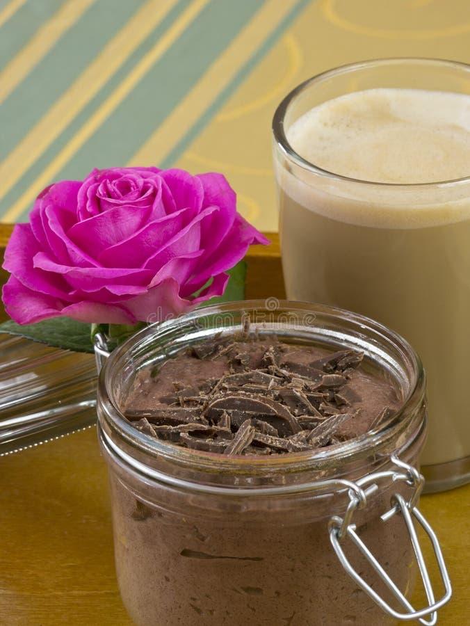 Pudding di cioccolato fotografia stock