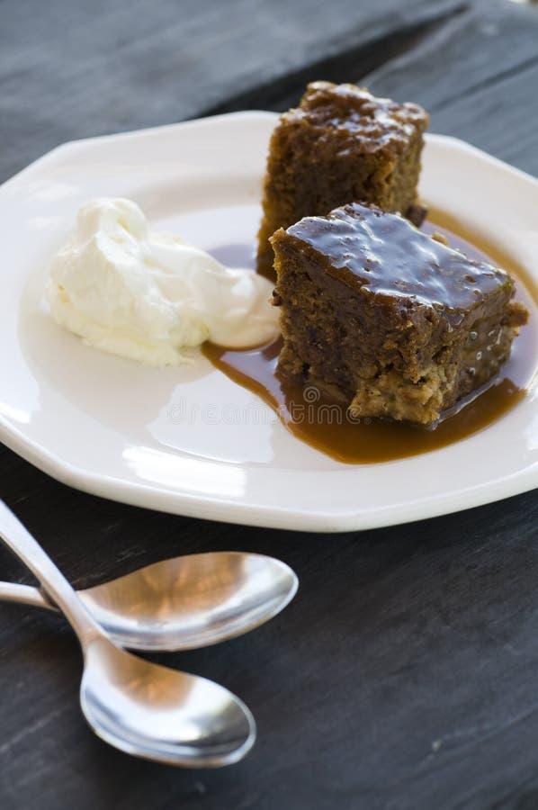 Pudding et crème collants photo libre de droits