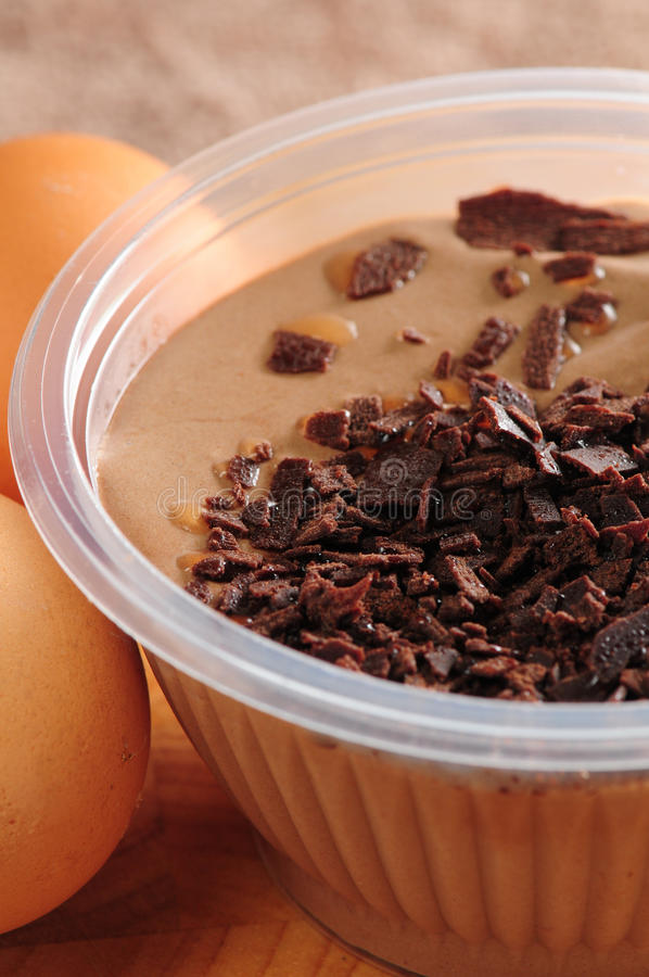 Pudding för chokladmousse royaltyfri bild