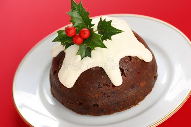 Pudding fait maison de Noël photographie stock libre de droits