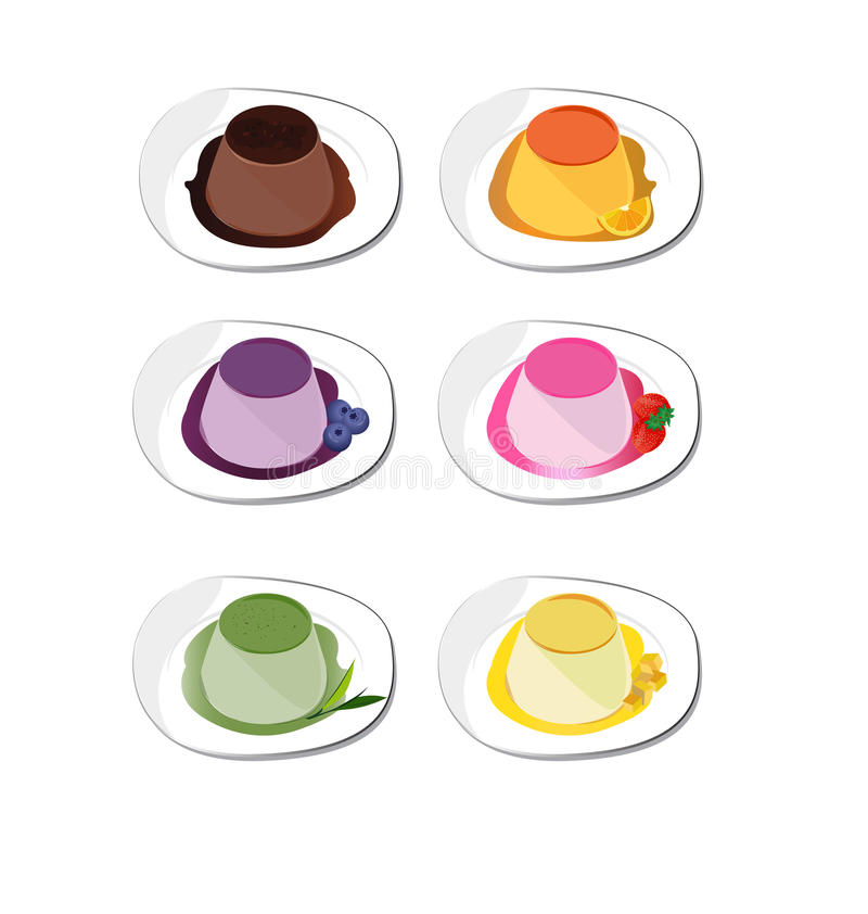 Pudding. Nature on white background royalty free illustration