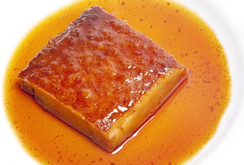 Pudding in sciroppo fotografia stock