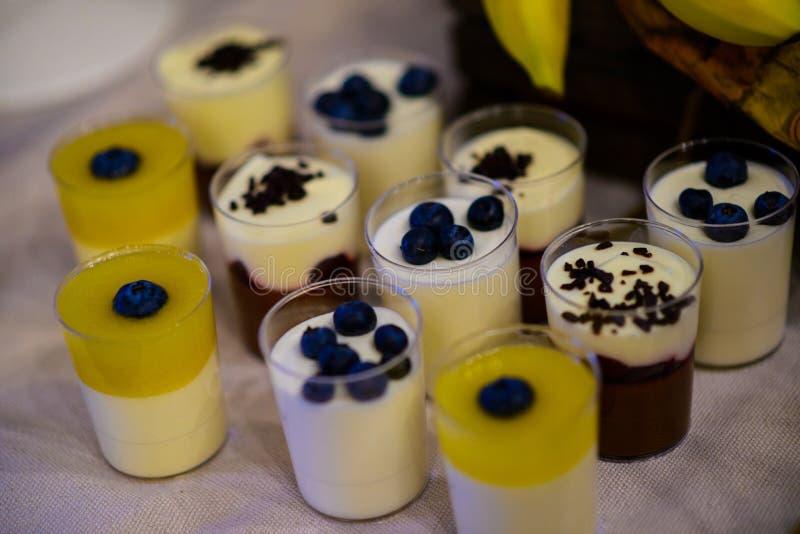 Pudding und Gelee stockfotografie