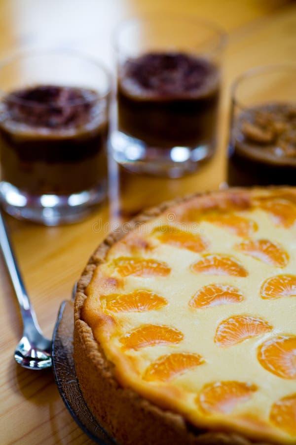 Puddingefterrätt royaltyfri foto