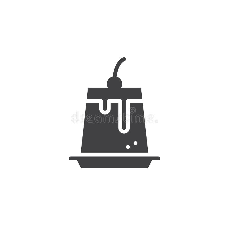 Puddingsymbolsvektor vektor illustrationer