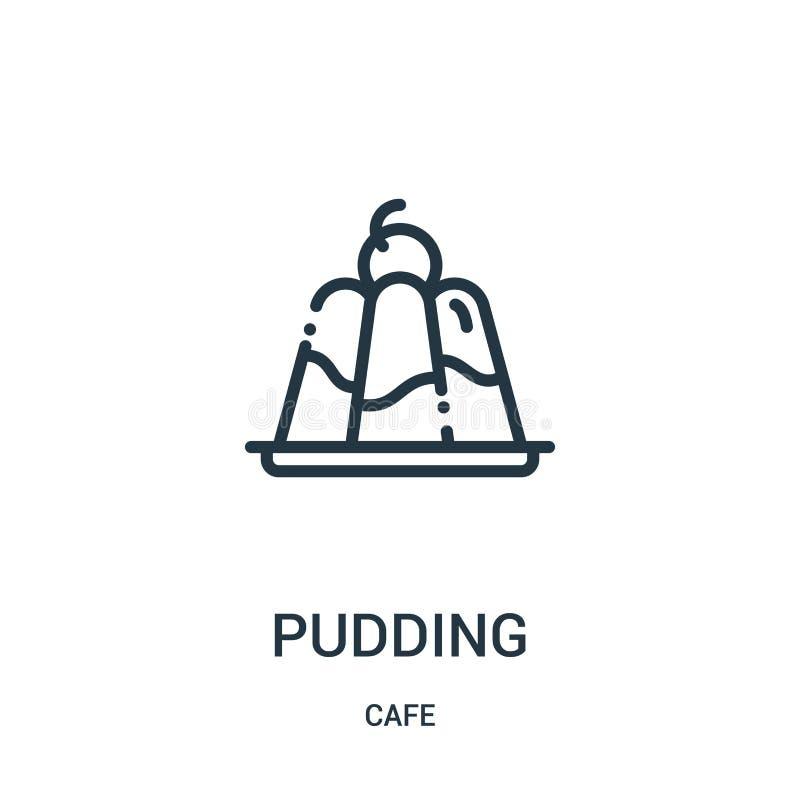 puddingsymbolsvektor från kafésamling Tunn linje illustration f?r vektor f?r pudding?versiktssymbol Linj?rt symbol vektor illustrationer