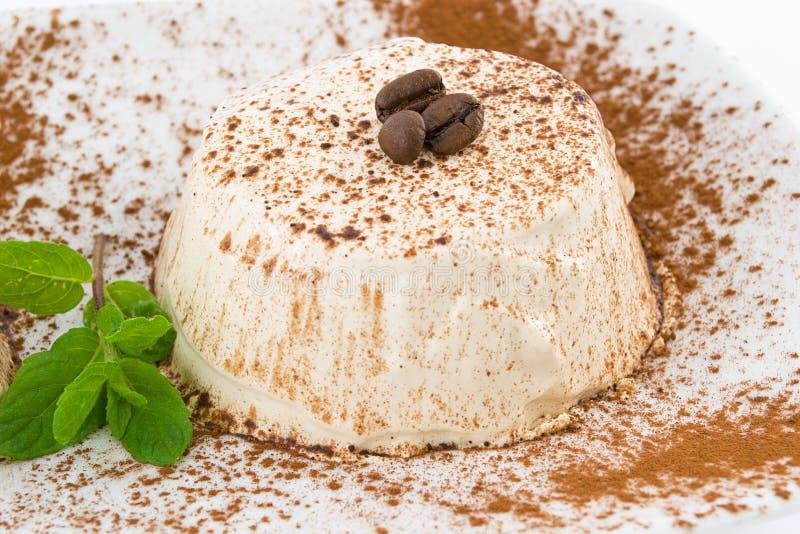 puddingu kawowy semifreddo obrazy stock