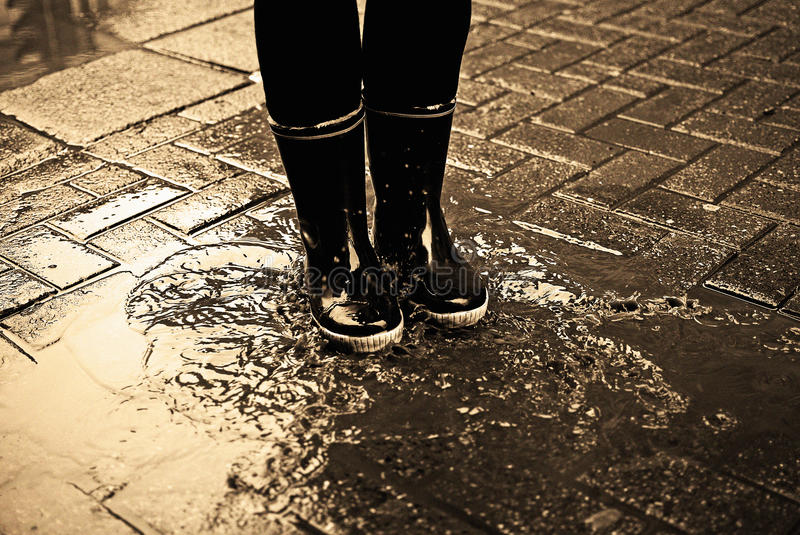 Download In a puddle stock photo. Image of play, weather, puddle - 22353718