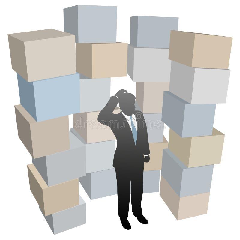 pudełek biznesowe kartonów mężczyzna wysyłki sterty