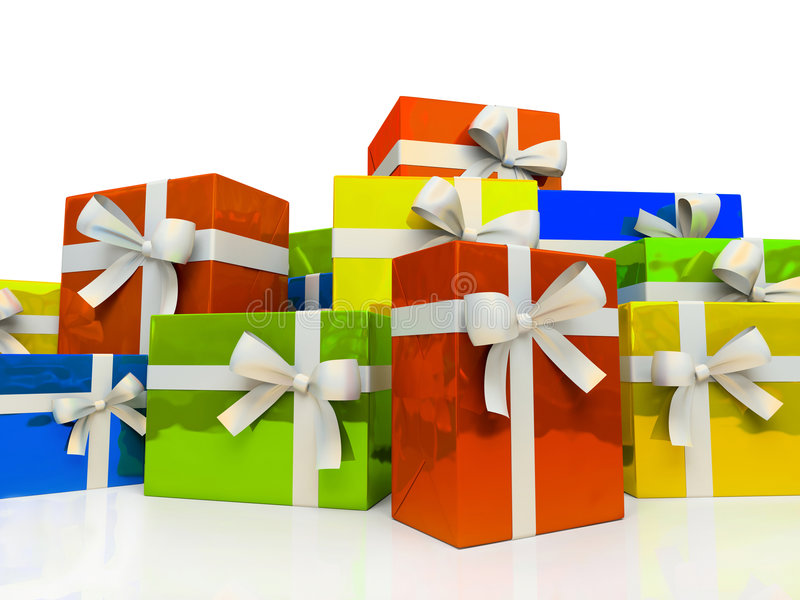 pudełek colour prezent ilustracja wektor