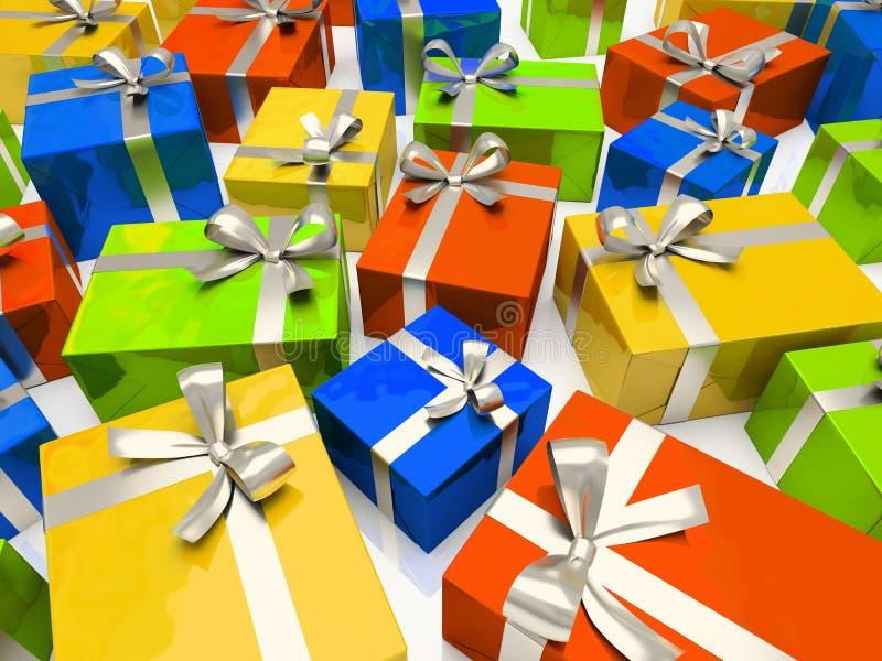 pudełek colour prezent royalty ilustracja