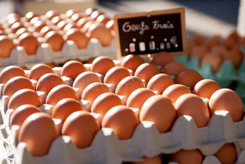 pudełek jajek rynek zdjęcie stock