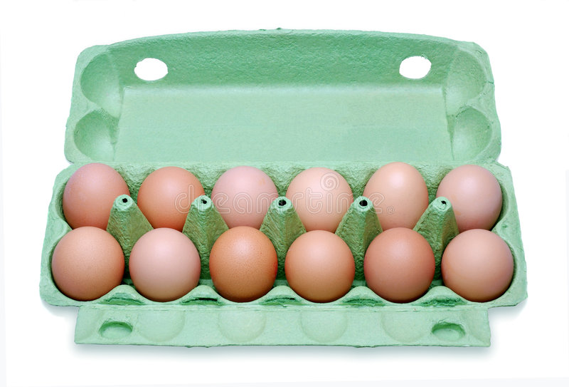 pudełek jajka tuzin fotografia stock