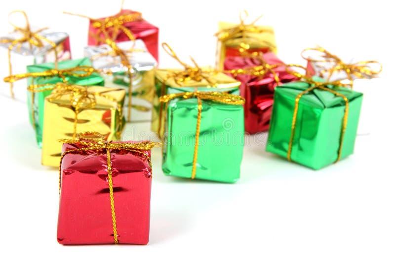 pudełek koloru prezent obraz royalty free