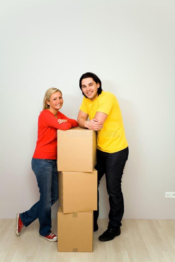 pudełek pary kocowanie obrazy stock