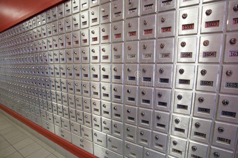 pudełek poczta biurowa poczta zdjęcia stock