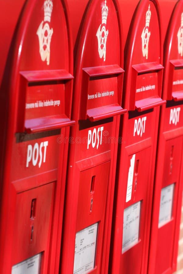 pudełek poczta czerwień trzy obraz stock