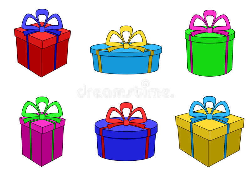 pudełka coloured różne formy wielo- royalty ilustracja