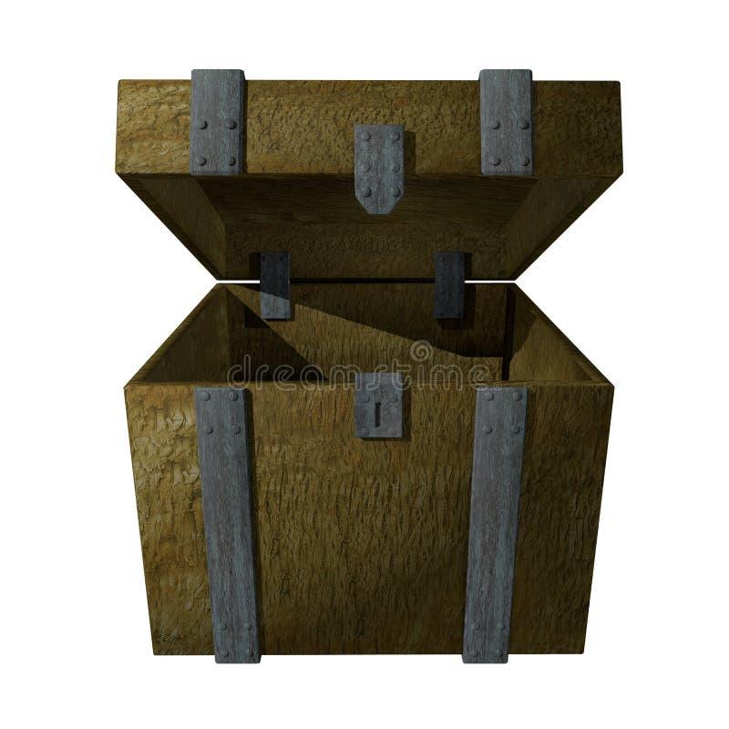 pudełka drewniany otwarty ilustracja wektor