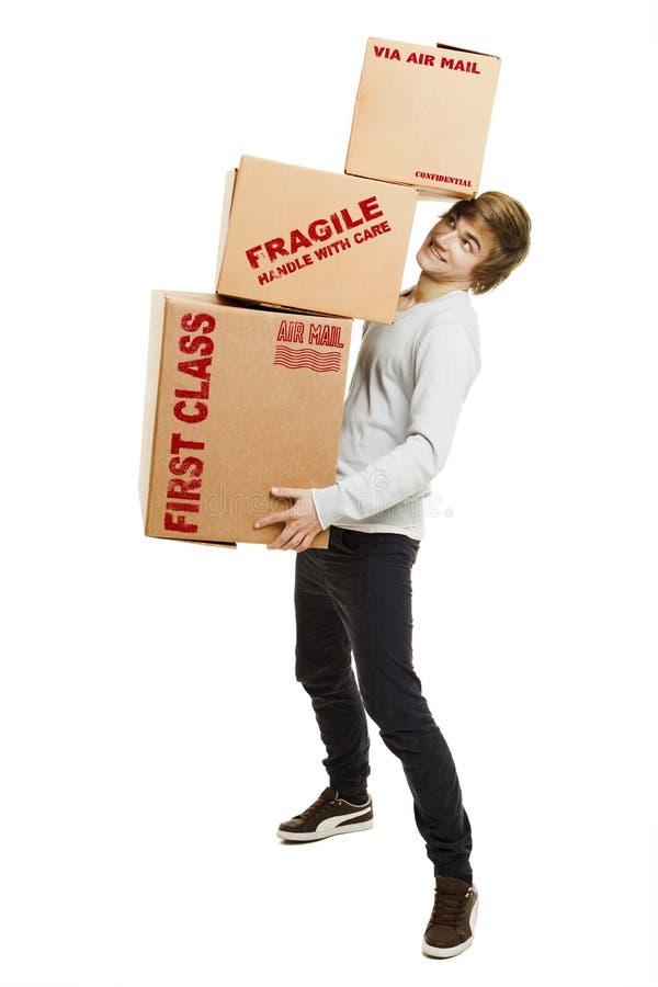 pudełka gręplują mienie mężczyzna obrazy stock