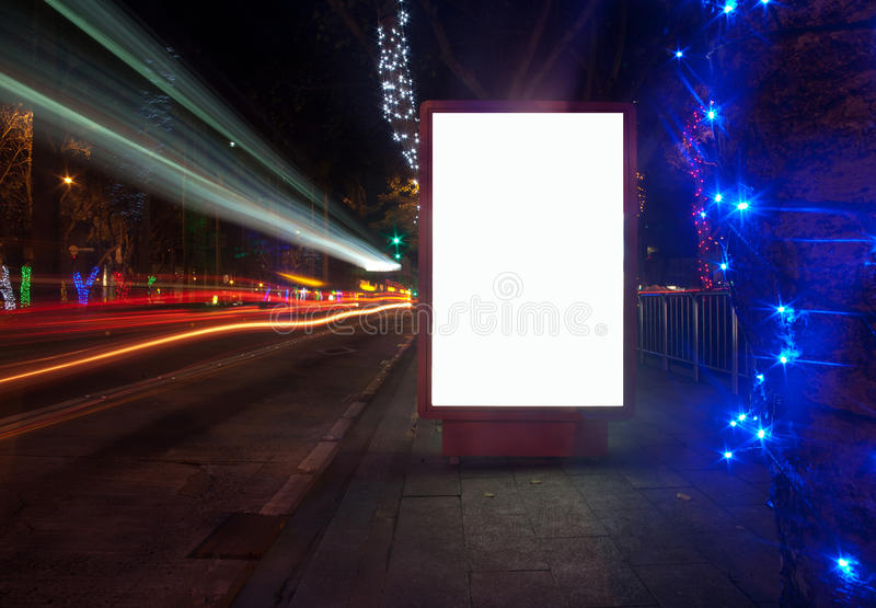 pudełka reklamowy światło obrazy stock