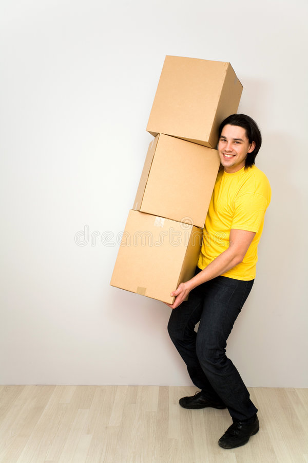 pudełka target1212_1_ mężczyzna potomstwa zdjęcie stock