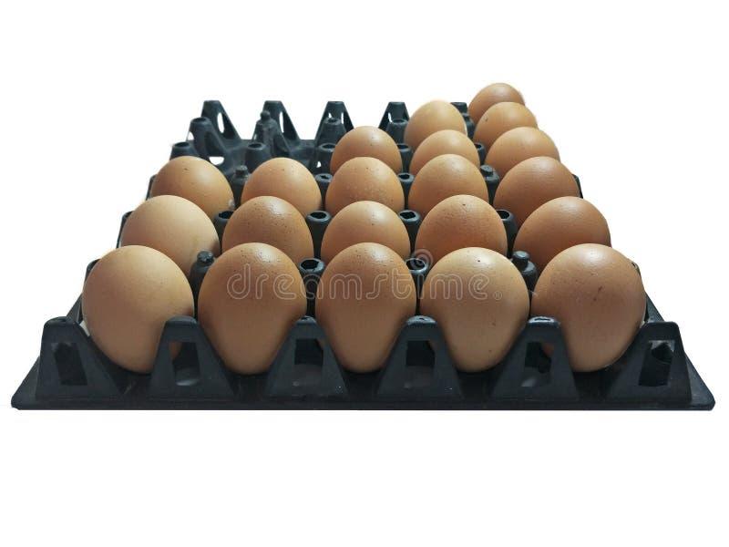pudełko łamający kurczaka jajka wśrodku yolk zdjęcie stock