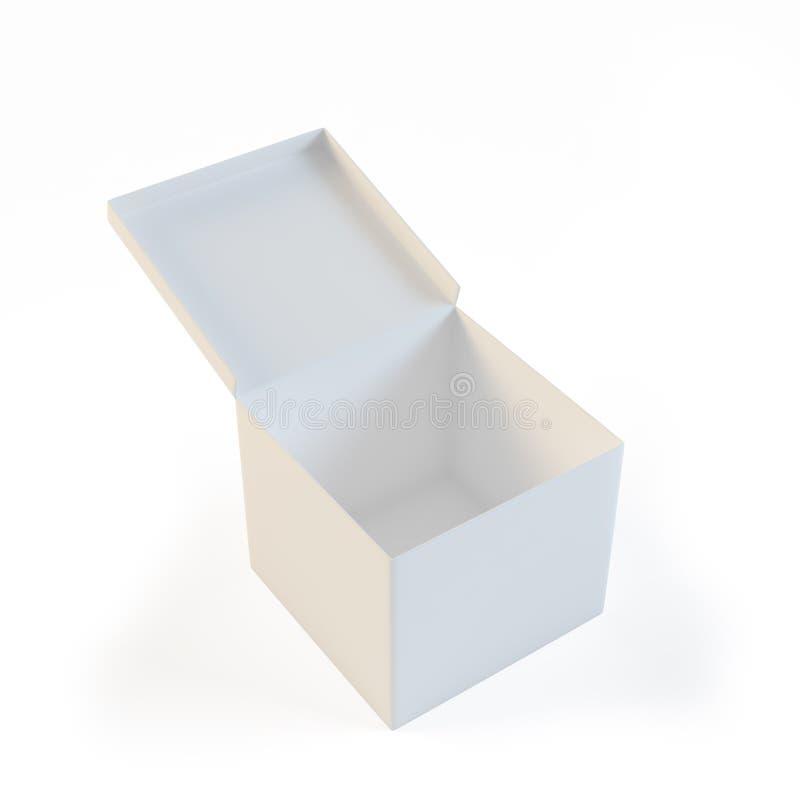pudełko biel pusty otwarty royalty ilustracja