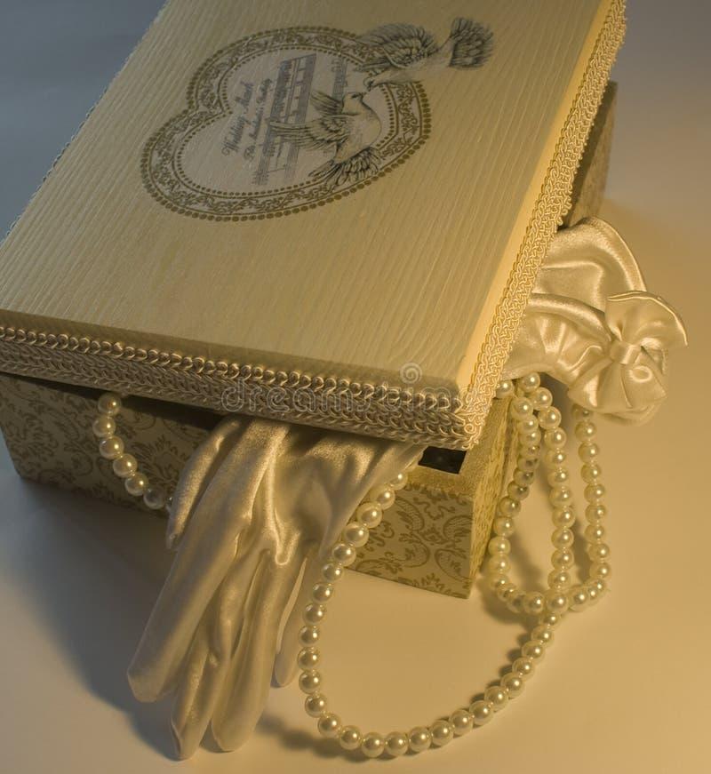 pudełko dekorujący decoupage fotografia royalty free