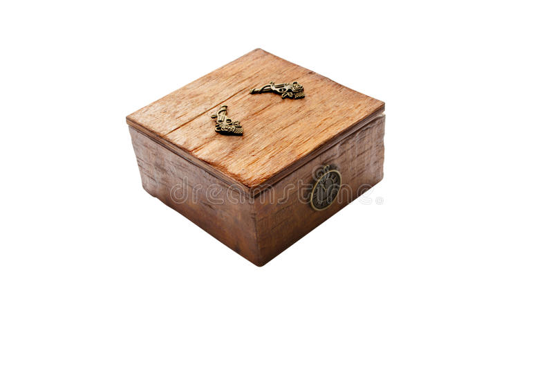 Pudełko dla biżuterii zdjęcia royalty free