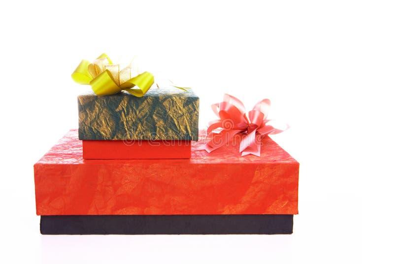 pudełko dwa prezenty zdjęcie stock