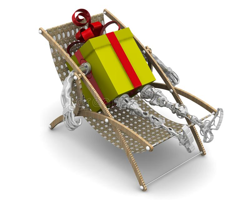 Pudełko na prezent jest na słońcu ilustracji