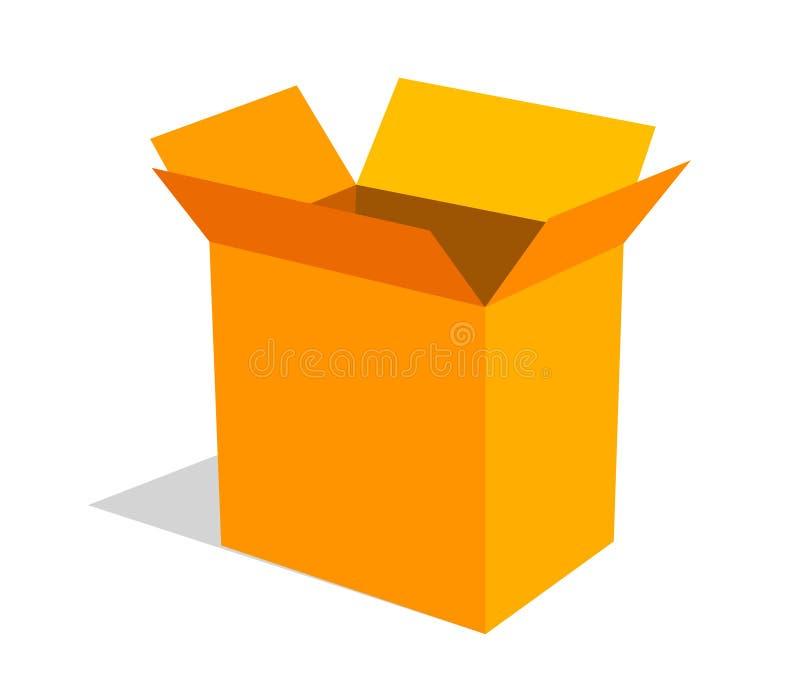 pudełko otwarty royalty ilustracja