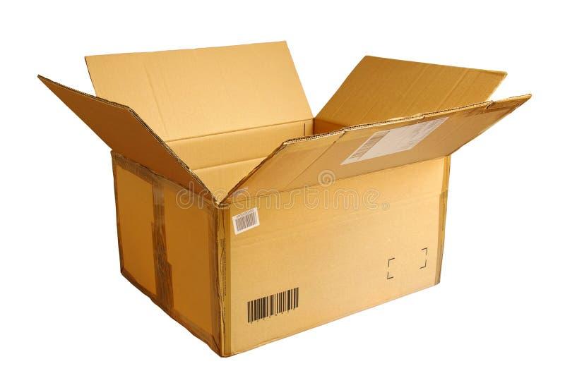 pudełko otwierający obraz stock